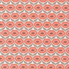 Cloud9 organic cotton Full Bloom Coral - Sew Natural