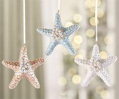 Starfish Ornament - Christmas Ornament - Holiday Decor - Holiday Present - Sea life - Beach House Decor - Ocean Theme - BOHO