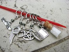 Supernatural NonSnag Stitch Markers by winemakerssister on Etsy