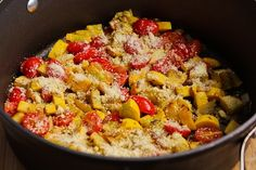 Kalyn's Kitchen: Recipe for Val's Easy and Amazing Yellow Squash with Tomatoes and Parmesan