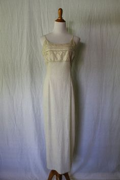 Vintage Adrianna Papell Evening Winter White glass beaded Silk Evening Gown 4 #AdriannaPapell #Sheath #Cocktail