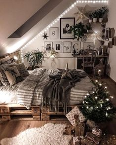 Home Decoration Hall .Home Decoration Hall Cute Bedroom Ideas, Cute Room Decor, Room Ideas Bedroom, Home Bedroom, Bedroom Inspo, Bedroom Table, Loft Bed Room Ideas, Cool Home Decor, Lofted Bedroom