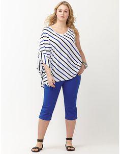 Striped drama sleeve top by Lane Bryant Plus Size Womens Clothing, Plus Size Fashion, Clothes For Women, Fashion Beauty, Womens Fashion, Plus Size Tops, Lane Bryant, Drama, Casual