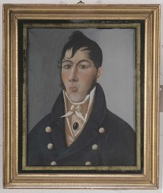 British School - Portrait of a Young Man, said to be Samuel Kempton, Sea Captain - Available now on Bidsquare from Brunk Auctions until December 2, 2015