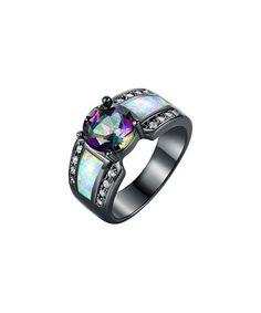 Look at this #zulilyfind! Topaz & White Opal Round-Cut Engagement Ring #zulilyfinds