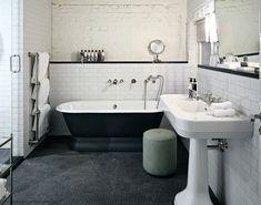 soho house berlin - vintage inspired bathroom, courtesy of Bliss