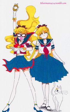 Sailor V, decoy Serenity, and Sailor Venus.