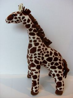 Stuffed Plush Giraffe Safari Jungle Nursery Room Toy by isewnaked, $34.99. 20 inches
