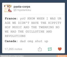Canada and France from Hetalia lol Otaku, Hetalia Headcanons, Hetalia Funny, Hetalia Axis Powers, Fandoms, Kaichou Wa Maid Sama, Anime, Memes, Just In Case