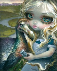 Faces of Faery 209 Jasmine Becket-Griffith art CANVAS PRINT steampunk Alice bugs
