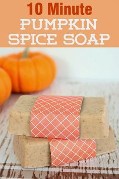 your own DIY Pumpkin Spice Soap in less than ten minutes! Smells just like fall - what a great gift idea!Make your own DIY Pumpkin Spice Soap in less than ten minutes! Smells just like fall - what a great gift idea! Homemade Soap Recipes, Homemade Gifts, Diy Gifts, Homemade Candles, Homemade Beauty, Soap Gifts, Homemade Paint, Soap Making Recipes, Homemade Christmas Gifts