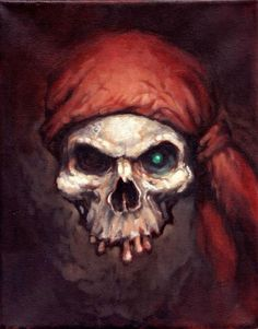 Pirate Skull Art Print by Jennifer Kearney Pirate Art, Pirate Skull, Pirate Life, Pirate Ships, Dark Fantasy, Fantasy Art, Crane, Badass Skulls, Totenkopf Tattoos