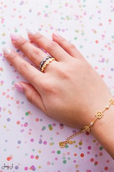 Easily stackable rings. #gold #jewelry