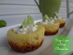Key Lime Mini Cheesecake #Recipe via www.jmanandmillerbug.com