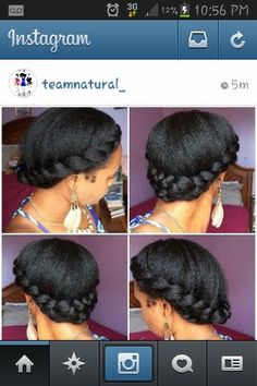 Cute protective hairstyle