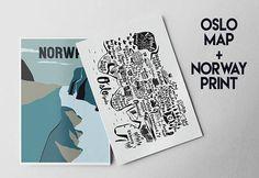 He encontrado este interesante anuncio de Etsy en https://www.etsy.com/es/listing/560356300/norway-and-oslo-map-prints-set-of-2