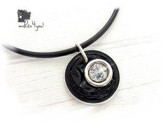 Ketten kurz - Kette Schwarz Silber Nespresso - ein Designerstück von mahita4you bei DaWanda