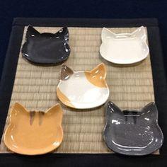 【青峰堂×薫陶土コラボ企画】猫フェイスの和菓子皿