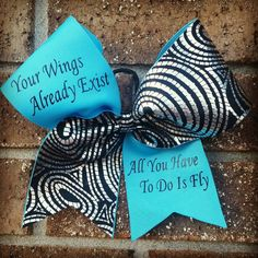 Cheer bow for flyers professional custom by CurlyNoodleCreations