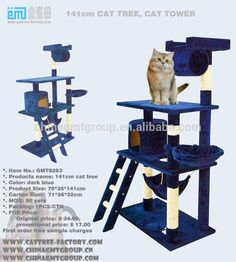 2017 Top Selling Products Ningbo MDF Cat Tower Furniture Cat tree