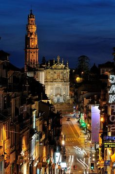 Porto city by night Portugal Places In Portugal, Visit Portugal, Portugal Travel, Spain And Portugal, Portugal Trip, Places To Travel, Places To See, Great Places, Beautiful Places