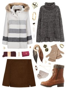 """""""Snow Day #1"""" by belenloperfido ❤ liked on Polyvore featuring H&M, Charlotte Russe, Paul Smith, Qi Cashmere, prAna, Woolrich, Prada, Triwa, Cachet and Monki"""