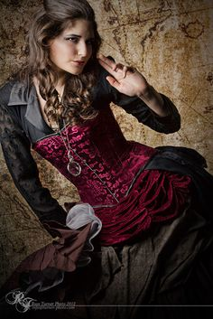 Photo by Russ Turner Photography. Model: Natalie Jenkins, MUA: Deaette Dwyer, Hair: Ashley Yono. Steampunk beauty of the day! For more awes...