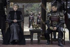 Cersei Lannister and Jaime Lannister, game of thrones season 7 episode 7 finale. Lena Headey, Nikolaj Coster-Waldau