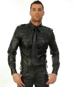 Hot guy in black leather pants and black leather shirt  http://liamhubpages.hubpages.com/hub/Best-Mens-Leather-Fashion