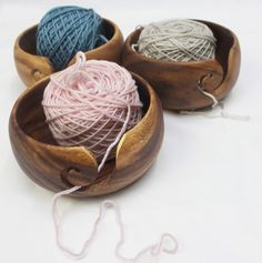 From the maker of the gorgeous Furl Crochet hooks (still for sale at the Studio) comes  . . . hand carved wooden yarn bowls! These bowls were designed to cradle your precious yarns while protecting...