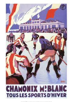 Chamonix still has regular Ice Hockey Matches open to the public