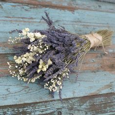 Lavender White Dried Flower Bouquet by EnglishFlowerFarmer on Etsy wedding flowers Lavender White Dried Flower Bouquet Lavender Bouquet, Dried Flower Bouquet, Flower Bouquet Wedding, Bridesmaid Bouquet, Dried Flowers, Dried Lavender Wedding, Lavender Wedding Decorations, Country Wedding Bouquets, Lavender Weddings