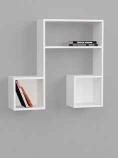Amazon.com - Lasido Music Note Style Floating Wall Shelf (White) -