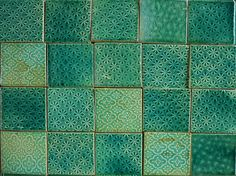 Turquoise tiles unique handmade pattern.  www.patakitiles.com  http://www.facebook.com/patakitiles/photos_albums