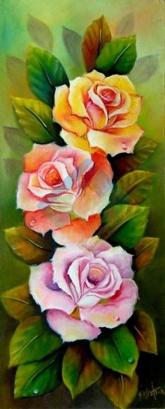 46 new ideas flowers roses painting decoupage Art Floral, Fabric Painting, Painting & Drawing, Painting Flowers, Plant Drawing, Rose Art, China Painting, Beautiful Roses, Pretty Roses