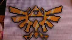Zelda Perler Bead Sprite Hyrule Crest pattern by Major-Owen on deviantART