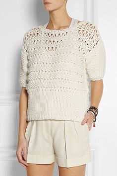 Paul & Joe | Oversized open-knit cotton-blend sweater | NET-A-PORTER.COM
