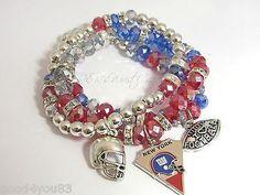 WRONG TEAM, but I like the bracelet idea.  GAME DAY! Womens Team Bracelets, Football Bracelets NFL Charm Bracelets