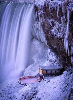 Frozen water-fall.