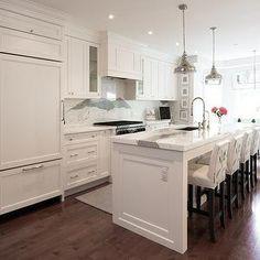 Cabinet Front Refrigerator, Transitional, kitchen, Steffanie Gareau