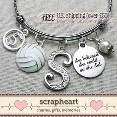 Volleyball Senior Gifts, Volleyball Cakes, Volleyball Jewelry, Senior Night Gifts, Volleyball Training, Camouflage, Film Cars, Gifts For Sports Fans, Bangle Bracelets With Charms