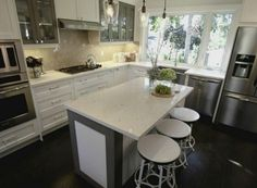 Property Brothers Kitchen Reno. Counter Height Breakfast Bar And Counter  Workspace Combined: Practical,