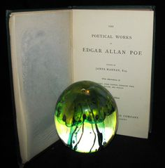 1860 Rare Victorian Book - The Poetical Works of EDGAR ALLAN POE. Illu – MFLIBRA - Antique Books