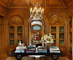 Home Library by Linda Floyd, California-based Interior Designer