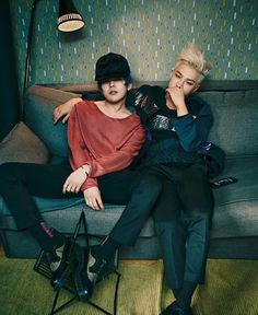 G-Dragon and Taeyang for Harper's Bazaar Man
