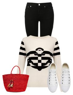 """""""nautical"""" by kim-coffey-harlow ❤ liked on Polyvore featuring MM6 Maison Margiela, Sensi Studio and Converse"""