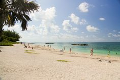 Beautiful Beach at Fort Zachary Taylor Historic State Park in Key West, FL
