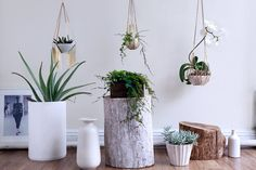 Sculptural multi linear brass hanging planter by shopLUCA on Etsy