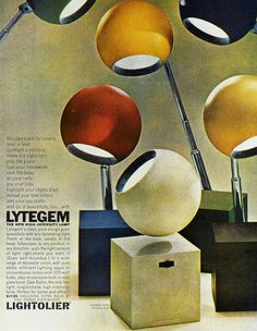For your print ad design inspiration, I compiled a set of truly remarkable retro and vintage advertisements. 1960s Advertising, Vintage Advertisements, Vintage Ads, Vintage Space, Retro Ads, Diesel Punk, Inspiration Design, Mid Century Lighting, Design Graphique
