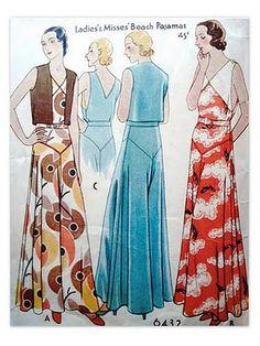Ce ne sont pas des jupes longues, mais des pantalons très larges. Une mode que l'on aimerai revoir ! 1930s